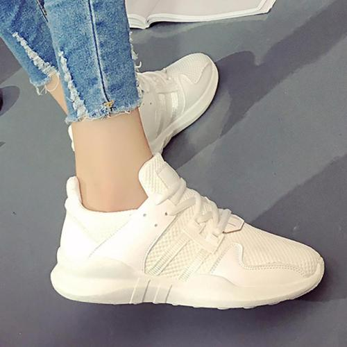 Women Mesh Fabric Sneakers Casual Lace Up Shoes