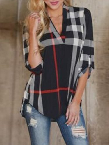 Printed Casual Polyester Blouses & Shirt