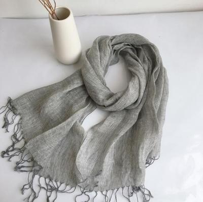 100% Linen New Spring and Autumn Unisex Scarf Echarpe Muslim Hijab Foulard Shawls Tie Dye Scarves Women/Men Sjaal Scarfs