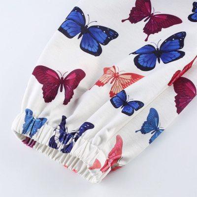 Butterfly Print Baggy Cargo Pants Women Jogger Sweatpants Casual Elastic High Waist Trousers Hip Hop Streetwear