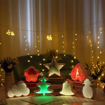 Creative LED 3D Night Light Cloud Tunnel Shape Child Room Bedside Lamp Decor