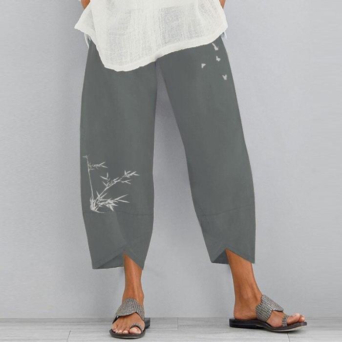 Autumn Harem Pants Kaftan Women's Printed Trousers 2020 Casual Elastic Waist Long Pantalon 5XL