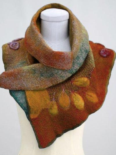 Color-Block Cotton-Blend Casual Scarves & Shawls