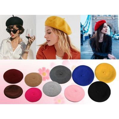 Winter Warm Wool Beret Women French Artist Hat