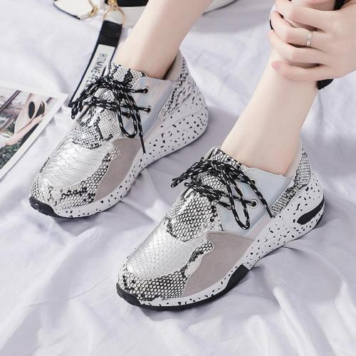 Snake-Print Bright Casual Old Shoes