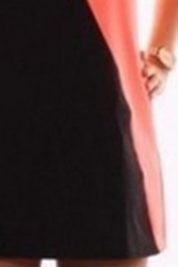 Round Neck  Contrast Trim  Contrast Stitching  Sleeveless Dresses
