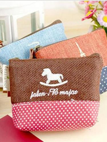 Pastoralism Coin Bag Cotton & Linen Creative Canvas Small Coin Purse Key Bag
