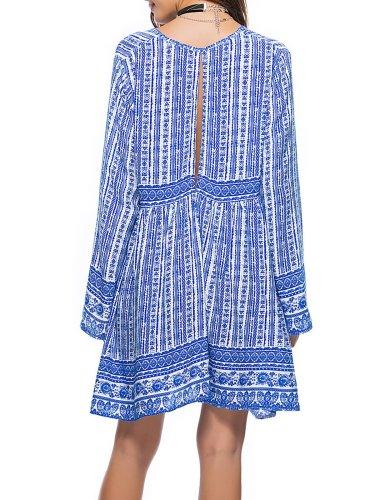 Women Vintage Summer Boho Paneled Dress