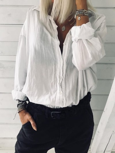 White Cotton Holiday Shirts & Tops