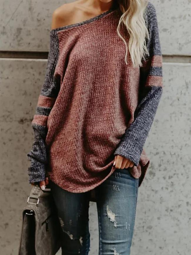 Brown Crew Neck Casual T-Shirt