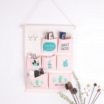 7 Pockets Wall Hanging Bag Linen Closet Organizer