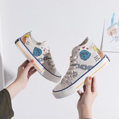 Casual Unisex Hand Drawn Graffiti High-Top Canvas Shoes