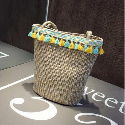 Multicolor Zipper Boho Linen Shoulder Bags