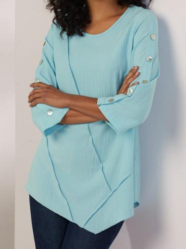 Long Sleeve Plus size Cotton Tops