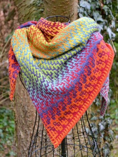 Boho Ombre/tie-Dye Cotton Knitted Scarves & Shawls