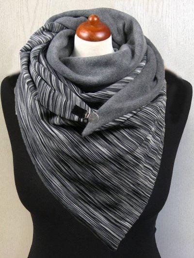 Grey Casual Cotton Scarves