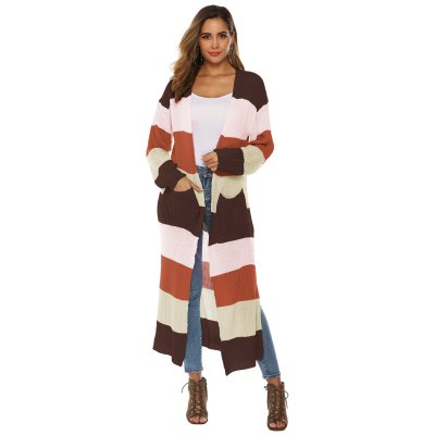 Fashion Women Knitted Sweater Long Sleeve Coat Cardigan