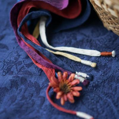 Linen Embroidered Scarf Autumn and Winter New Style Retro Literary Fashion Cape