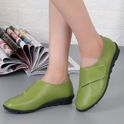 Women PU Loafers Casual Comfort Magic Tape Shoes