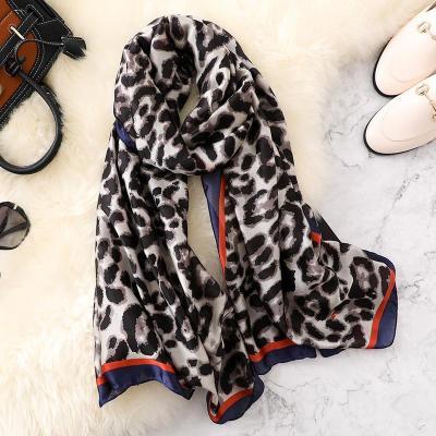 Silk Scarves Summer Women Shawls Beach
