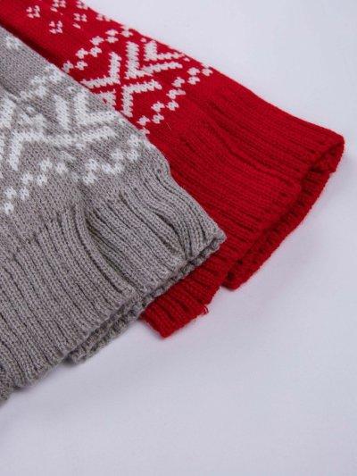 Christmas Elk Print Lace Stockings