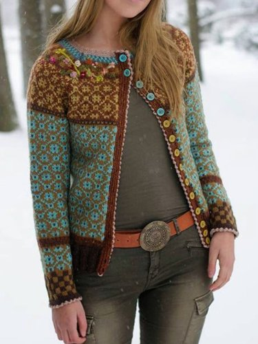 Vintage Tribal Long Sleeve Cardigan