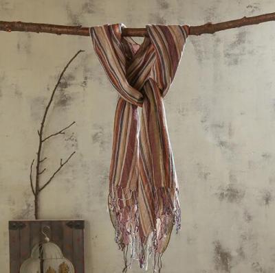 100% Linen Stripe Men/Women Winter Scarf 2020 High Quality Hijab Fashion Foulard Shawls Scarves 65x180cm