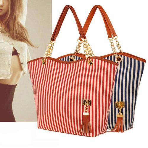 Stripe Pattern Elegant Stylish Dating Handbag For Women