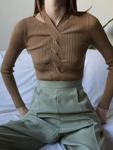 Women's Vintage Cross Knit Top