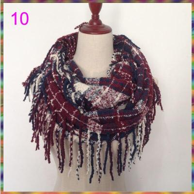 2020 new design Fashion Women Winter Warm Loop yarns Scarf Tassels Soft Shawl Snood Scarves Wraps Infinity