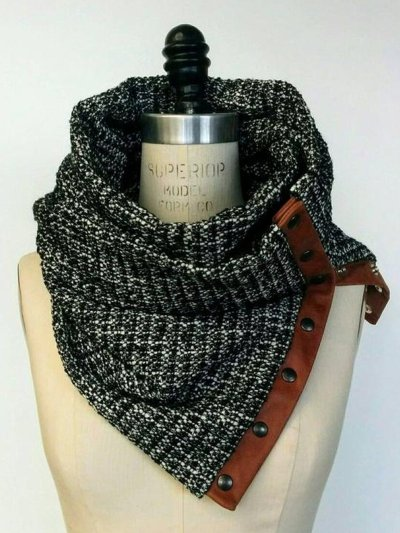 Gray Casual Scarves  Shawls