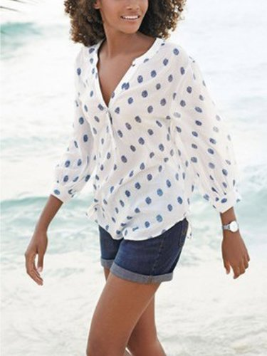 White Cotton Long Sleeve Shirts & Tops