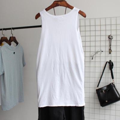 White Cotton Sleeveless Shirts & Tops