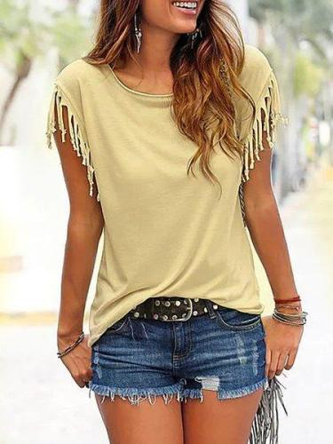 Casual Crew Neck Casual Tops