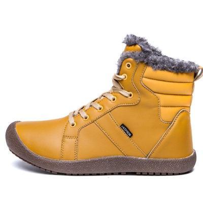 New Cotton Warm Large Size Comfortable Antiskid Shoes Couple Snow Boots