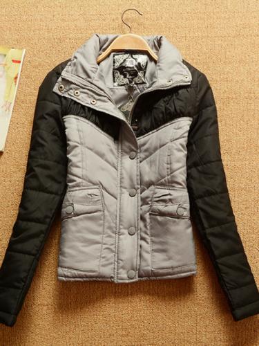 Long Sleeve Basic Cotton Patchwork Coat