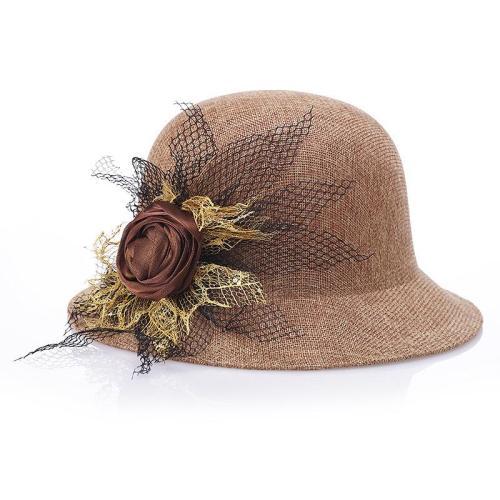 Hat Ladies  Linen Fashion Sunshade Outdoor Sun Proof Hat Straw Hat Hat