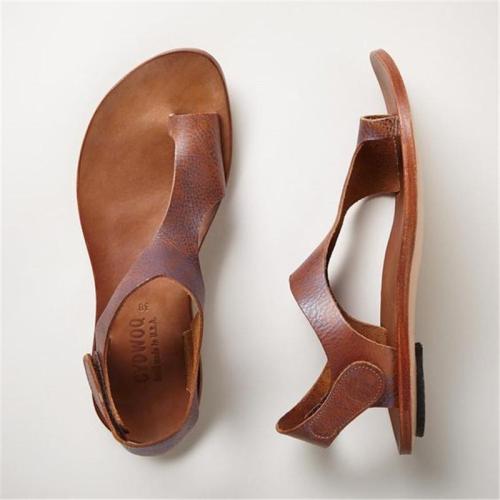 Plus Size Sandals Women Magic Tape Flat Heel Sandals