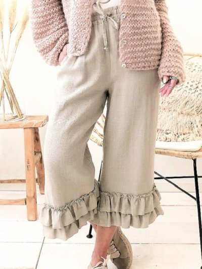 Ruched Casual Pants