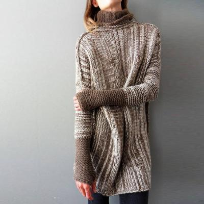 Women's Fashion Loose Plus Size Sweaters Turtlenecks Sueter Mujer  Winter Clothes Women Pullovers Knitted Sweater