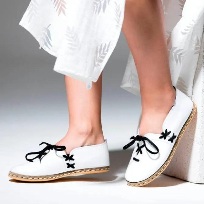 Leather Summer Holiday Flats