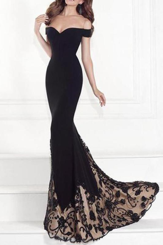 Off-Shoulder Sexy Fishtail Evening Dress