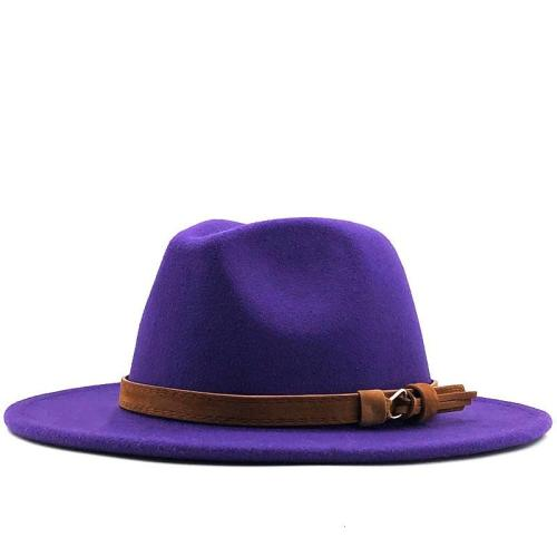 Wide Brim Wool Felt Hat Formal Party Jazz Fedora Hat