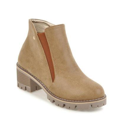 Women Fashion Chunky Heel Winter Shoes