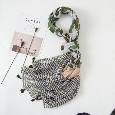 Winter Ethnic Style Print Beach Towel Lady Cotton and Linen Scarf New Seaside Sunscreen Shawls