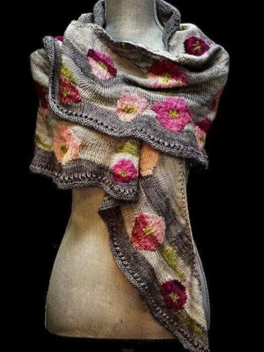 Cotton-Blend Vintage Scarves & Shawls