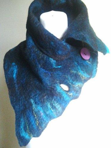 Blue Ombre/tie-Dye Vintage Scarves & Shawls
