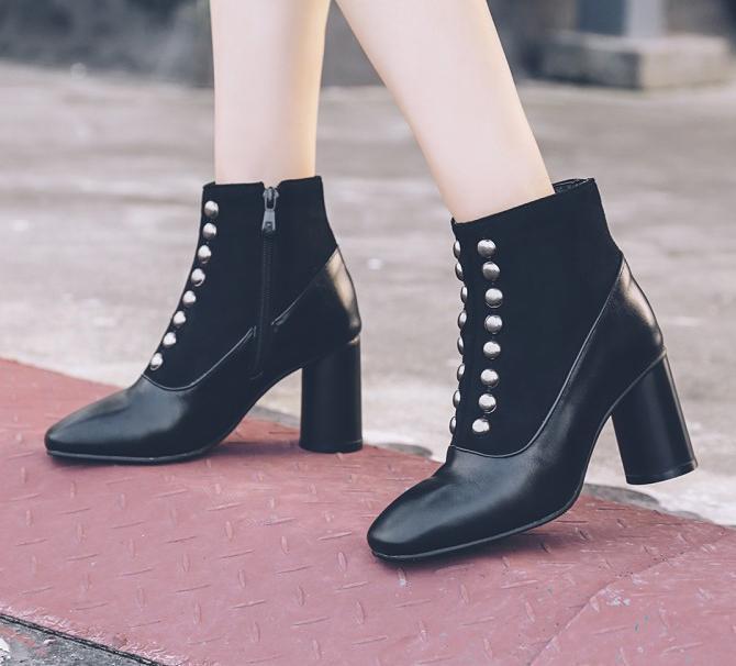 Chunky Heel Holiday Boots