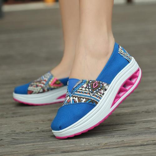 Printed Canvas Women's Slip-On Fashion Sneakers