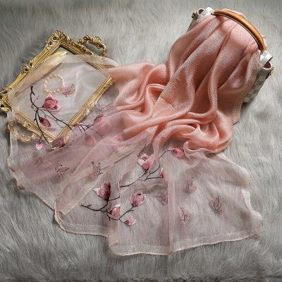 New Silk Embroidered Women Fashion Shawls